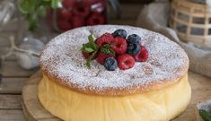 Tarta de queso japonesa Tapas, Queen Cakes, Camembert Cheese, Cheesecake, Food And Drink, Cooking, Desserts, Recipes, Chocolate Blanco