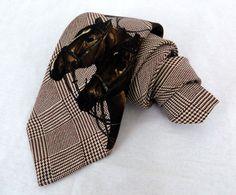 """Polo Ralph Lauren Tie Glen Plaid Pony Equestrian Racing Horse Silk 58"""" Necktie #PoloRalphLauren #NeckTie"""