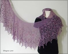 Alpaca Silk Lace Shawl  handmade  knitted scarf by Shayna Love on Etsy