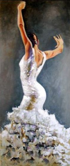 This would be an awesome dress Dance Paintings, Cool Paintings, Spanish Dancer, Spanish Art, Dance Art, Just Dance, Art Plastique, Female Art, Amazing Art