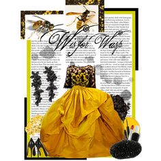 W is for Wasp, created by #kimberlee-peers-moore on #polyvore. #fashion #style #Thakoon Alexander McQueen
