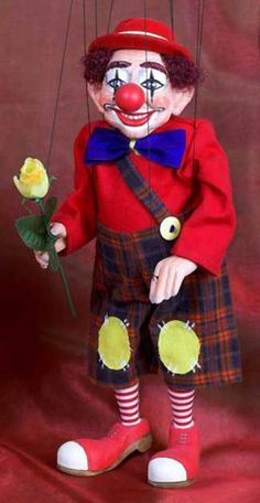 The Clown Marionette / Czech Marionettes By Rici