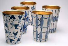 Beautiful cups from the swedish designer Åsa Lindström