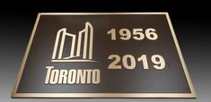 Custom bronze plaques with raised text and border for renovated bridges in Toronto. Bronze Plaques, Bridges, Toronto, Signs, Novelty Signs, Signage, Dishes, Sign