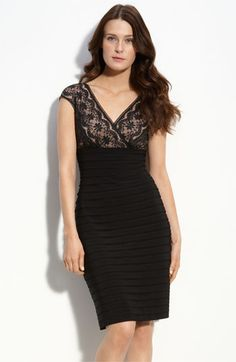 Adrianna Papell Lace & Shutter Pleat Dress (Petite) available at #Nordstrom