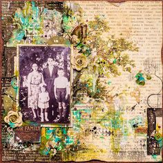 Scraps of Darkness and Scraps of Elegance: Mixed Media Heritage Layout Tutorial