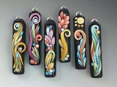 Flora Art Jewelry: The Company of Women... #polymer #clay pendants