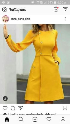 Lantern Ruched Sleeve Insert Buttoned Dress - Yellow Dresses - Ideas of Yellow D. - Lantern Ruched Sleeve Insert Buttoned Dress – Yellow Dresses – Ideas of Yellow Dresses – Lantern Ruched Sleeve Insert Buttoned Dress Source by liliriospa - Simple Dresses, Elegant Dresses, Casual Dresses, Dresses With Sleeves, Sleeve Dresses, Long Dresses, Beautiful Dresses, Party Dresses, Evening Dresses
