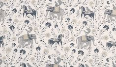Duralee - John Robshaw elephant print.