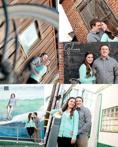 Huntington Beach Engagement Photo, Down Town, Main Street, Orange County, Engagement Photography, Gilmore Studios, Kiss, Love, Engagement, Couple, Vintage, Barn