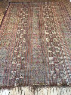 Taureg Rug on hardwood floor in Mellah -  Moroccan Rugs