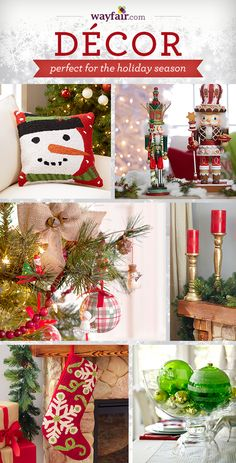 Make Wayfair.com your home for the holidays! Up to 70% off favorite faux trees, festive lawn decor, seasonal holiday accents,  pretty printed stockings, eye-catching ornaments, Christmas pillows and tree skirts, holiday tabletop decorations, festive serveware, and so much more!