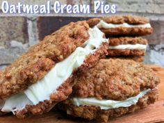 Healthy Homemade Oatmeal Cream Pies.  Awesome.