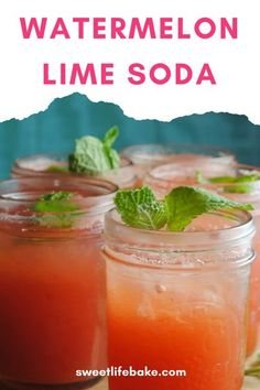 I have made grapefruit, chayote, strawberry and orange, but today I went with watermelon with a tangy splash of lime, so –so delish! #watermelonsoda #limesoda #watermelondrink #soda #sweetlifebake #sweetlife #sweetliferecipes   sweetlifebake.com @sweetlifebake Drink Recipes Nonalcoholic, Non Alcoholic Drinks, Yummy Drinks, Festive Cocktails, Holiday Drinks, Party Drinks, Real Food Recipes, Great Recipes, Nibbles For Party