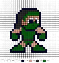 Jade Mortal Kombat 2 Perler Bead Pattern MK2