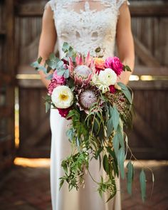 "188 Likes, 3 Comments - Chic Vintage Brides (@chicvintagebrides) on Instagram: ""This bride's bouquet was full of the most beautiful native Australian blooms.... Photography ~…"""