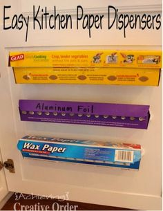 easy kitchen dispensers- Link Party on A Bowl Full of Lemons