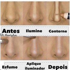 Como afinar o nariz!  #makeup #otd by institutobellezaecia