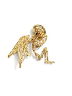 """Cupid's Lie"" de Damien Hirst, 2008 - Gold 4.1 x 14.4 x 12.8 in."