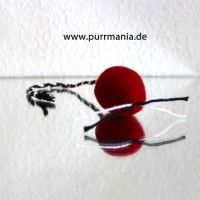 hand felted rattle mouse called red available in our online shop