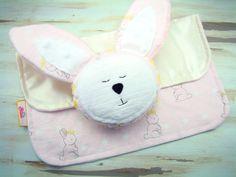 Bunny Toys, Learning Toys, Sensory Toys, Handmade Baby Toys, Bunny Lovey, Lovie Blanket, Baby Lovie, Baby Rattle, Crinkle Toy, New Baby Gift by BluteBaby on Etsy