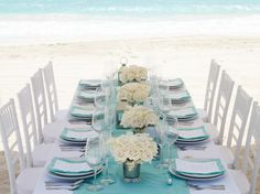 Step 1: Find the prettiest inspiration for your beach wedding table décor. Step 2: Pin now to start planning your destination wedding with @WeddingMoons.  #LoveIsAllYouNeed #WeddingMoons