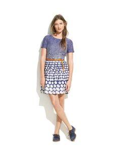Broadway and Broome Madewell Blue Cream The Dotted Songbird Dress Size 10 $138 #BroadwayandBroome #ShirtDressSundressTeaDress #WeartoWork