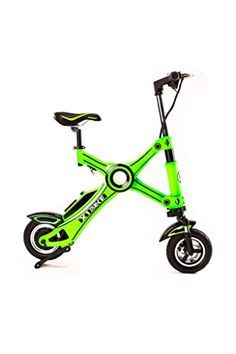 X1 Bike The Latest 100% ELECTRIC FOLDING MOTORCYCLE BICYCLE Zero Emission Ebike Scooter with Dual Suspension 265lb Weight Limit   CITY COMMUTER MODEL 25 Miles Range   19 MPH Top Speed   GREEN ** Check out this great product.