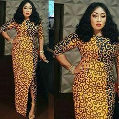 Beautiful and Latest Ankara Long Gown Styles in 2019 - Naija's Daily African Fashion Ankara, African Print Dresses, African Print Fashion, Africa Fashion, African Dress, African Prints, African Clothes, African Wear, Ghanaian Fashion