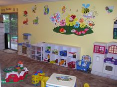 daycare rooms | Home Daycare Rooms storage shelves would be good