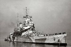 HMS Howe was the last of the five British King George V-class battleships of the Royal Navy, laid down on 01 June 1937 and launched on 09 April 1940.
