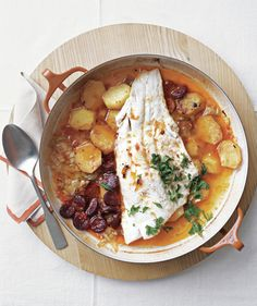 Baked Cod & Chorizo