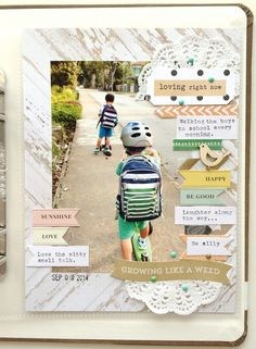 #papercraft #scrapbook #layout.   Loving right now by Lovepaper at @studio_calico