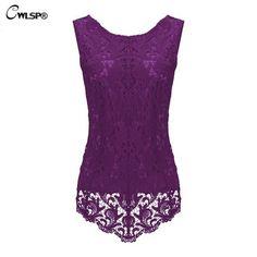 2017 Summer Womens Sleeveless Lace Blouse Fashion Fitness Female Chiffon Blouse Elegant Office Shirt Women Tops Plus Size ZLY187
