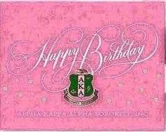 Happy Birthday Cards, 21st Birthday, Birthday Wishes, Birthday Memes, Aka Sorority, Alpha Kappa Alpha Sorority, Happy Birthday African American, Aka Founders, Aka Paraphernalia