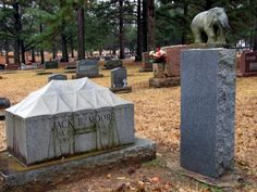 The Mount Olivet Cemetery also has the Bull Rider's Reprieve section, with the graves of rodeo stars Freckles Brown, who was the first to ride the wild bull Tornado, and Lane Frost, a young champion bull rider who was gored during a performance.