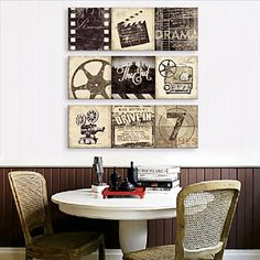 Stretched Canvas Art Vintage Old Times Set of 3 - USD $ 69.99