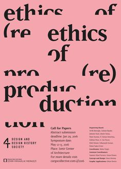 "visualexploration: ""'Call for Papers: Ethics of re(production)' poster, 2016. Design by Umut Altıntaş. """