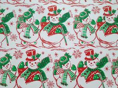 Vintage snowman wrapping paper.