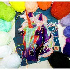 "sosuperawesome: ""Crochet art and clothing by KatikaCrochetArt on Etsy Crochet Art, Crochet Patterns, Pet Birds, Fiber Art, Unicorn, Stitch, Sewing, Knitting, Halloween"