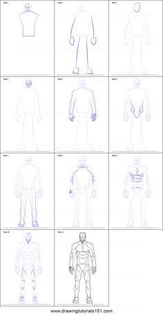How to Draw Iron Man Suit Printable Drawing Sheet by DrawingTutorials101.com