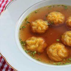 Kartoffelröschen als feine Einlage in der Suppe.