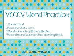 VCCCV Practice, Reading Street (Fly, Eagle, Fly!)
