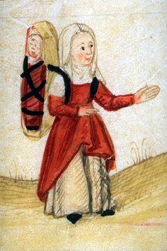 BnF - Dossier pédagogique - L'enfance au Moyen Âge. Première fois que je vois la représentation d'un porte-bébé médiéval