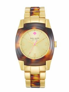 gorgeous watch from kate spade - love the pink accent!