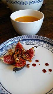 Plantaardig zonder banaan: Tomatensoep met Genoteerde Verse Vijgen