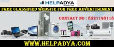 Free Classified Website For Free Advertisement - HelpAdya  HelpAdyais a free classified website for free advertisement, where you can post ads related to product and services. You can post free ads to buy and sell in India. Find used cars and buy instantly including wide range of categories such as electronic equipments, real estate, furniture, cars & bikes, jobs and much more. To know more aboutFree Ad Posting Sitevisitwww.helpadya.com
