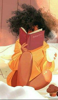 Black Love Art, Black Girl Art, Art Girl, Black Girl Aesthetic, Aesthetic Art, Natural Hair Art, Natural Hair Styles, Wallpaper Bonitos, Fond Design