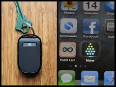 """""""Judging by the plus sign in the top right corner of the screen shot, this can be for more than keys. I'm going to strap one to the television remote!"""" - me  Hone for iPhone 4S: Never Lose Your Keys Again by Geoffrey Litwack — Kickstarter"""