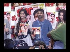 dhanush and sonam kapoor unveiling star week magazine cover.